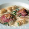 Raviolis de pommes de terre farcis au chèvre betterave et roquette