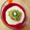 Rhubarbe aux épices semoule et framboises