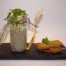 Rillettes de lentilles vertes émietté de haddock melbas de pain aux céréales