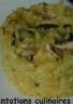 Risotto à la purée de citron confit sardine coriandre