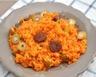 Risotto à la tomate au chorizo et aux olives