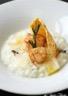 Risotto à la truffe noir St-Jacques poêlées et tuile de parmesan