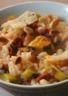 Risotto au chorizo courgette piment d'espelette citron confit