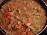 Risotto au poulet à la carotte et à la courgette
