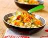 Risotto au poulet légumes et champignons