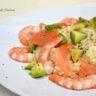 Risotto au saumon fumé crevettes et avocat feta et citron vert...