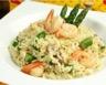 Risotto aux asperges crevettes et champignons