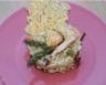 Risotto aux cèpes asperges et gambas grillées