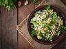 Risotto aux légumes verts (courgettes petits haricots verts)