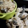 Risotto aux morilles fraîches et émincé de dinde sauce morilles