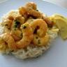 Risotto aux poireaux et coteaux du Layon et ses crevettes curry-coco