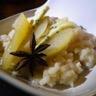 Risotto crémeux au cottage cheese et notes de badiane poire vanillée et roquefort