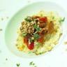 Risotto crémeux aux champignons de Paris cuisinés à la tomate et mascarpone