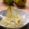 Risotto crémeux aux poires et fromage bleu