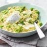 Risotto de quinoa aux asperges petits pois et Chavroux®