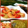 Risotto de quinoa aux crevettes et pamplemousse rose
