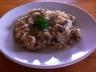 Risotto poulet champignon