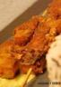 Riz aux fruits exotiques et brochettes de poulet au curry indien