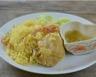 Riz et poulet sauce crémeuse au miel et curry