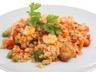 Riz sauté aux crevettes et poulet