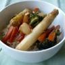 Riz sauté aux légumes de printemps