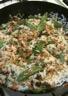 Riz sauté aux légumes et à la pâte de curry vert