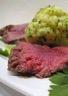 Rôti de bœuf chou-fleur et sauce verte
