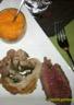 Roti de boeuf /épaule d'agneau farcie au herbes/ purée de carrotte /pommes de te