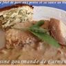 Rôti de filet de porc aux poires et sa sauce au bleu