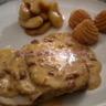 Rôti de porc au cidre et aux lardons pommes fondantes au miel