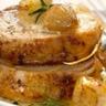 Rôti de porc caramélisé aux échalotes