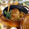 Rôti de porc en cocotte à la moutarde