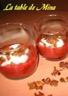 Rouges verrines rhubarbe-fraise