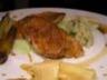 Rouget Barbet boulgour à la coriandre Poireaux grillés purée de topinambours Rhubarbe au vina...