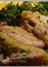 Roulé courgette pomme de terre jambon et chèvre