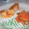 Roulé de filet de poulet et poêlée de légumes