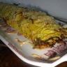 Roulé de pommes de terre et de courgettes