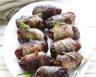 Roulés croquants de dattes au bacon