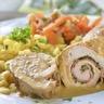Roulés de poulet aux poireaux jambon et petits légumes