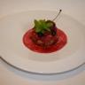 Sablé breton aux éclats de pistaches vertes poêlée de fruits rouges chantilly de lemond curd