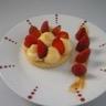 Sablé breton crème pâtissière vanillée et ses fraises