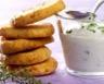 Sablés à l'Emmental et fleurs de thym sauce fromage blanc à l'ail des ours