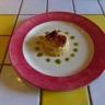 Sablés au comté à la crème pâtissière à l'ail de Lomagne tomates confites et coulis basilic