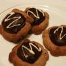 Sablés bretons aux notes fruitées de chocolat et coeur de roquefort