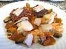Saint-Jacques à la confiture d'échalotes et au foie gras