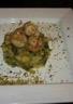 Saint Jacques sur sa fondue de poireaux et mangue aux pistaches
