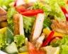 Salade au concombre tomate jambon et au poulet