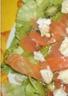 Salade au kiwi et saumon fumé ww