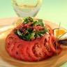 Salade auvergnate à la Vinaigrette bi-phasée à l'huile d'olive vierge extra vinaigre de vin roug...