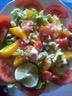 Salade aux agrumes et surimi